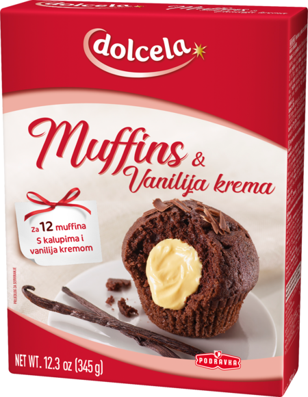 Punjeni muffini s okusom vanilije
