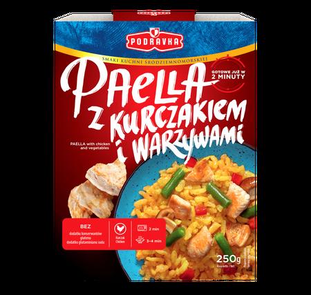 Paella z Kurczakiem i Warzywami danie gotowe