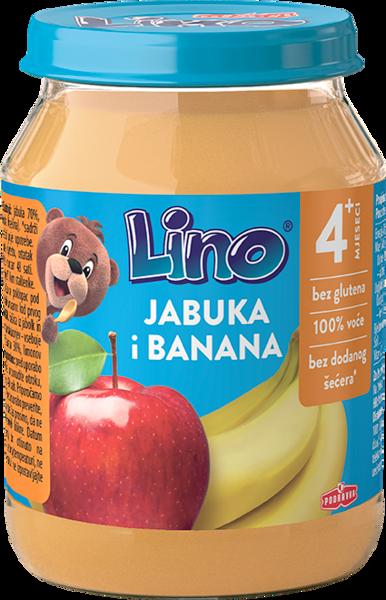 Lino puree apple and banana