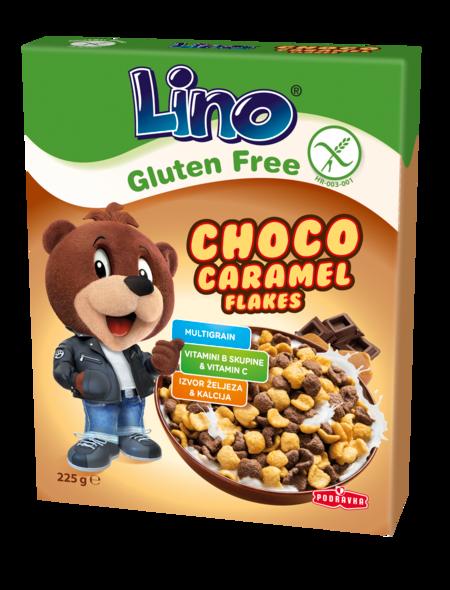 Lino Choco caramel flakes brez glutena
