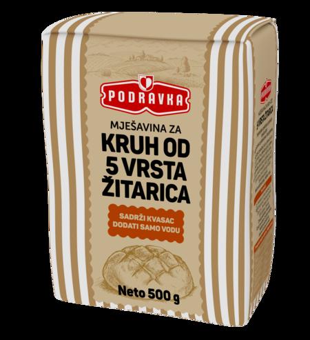 Mješavina za kruh od 5 vrsta žitarica