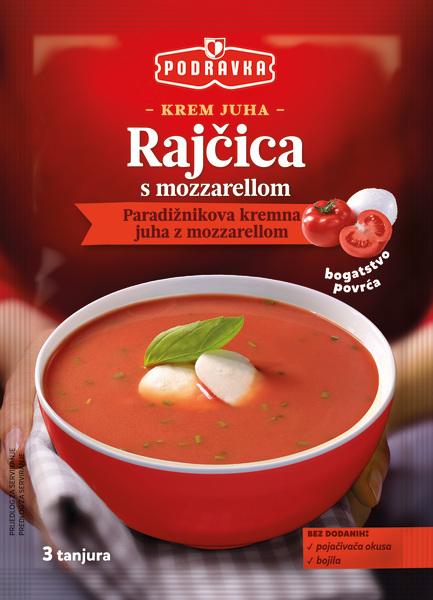 Krem juha od rajčice s mozzarellom