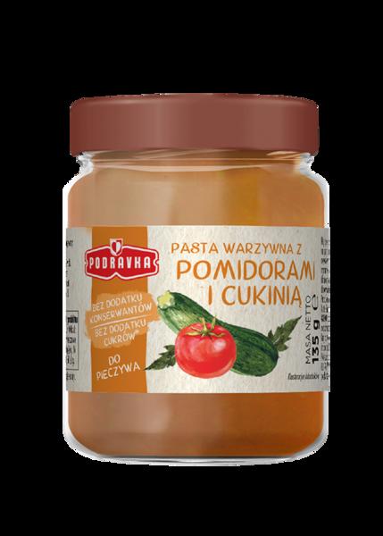 Pasta warzywna z pomidorami i cukinią