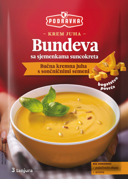 Cream of pumpkin soup with sunflower seeds