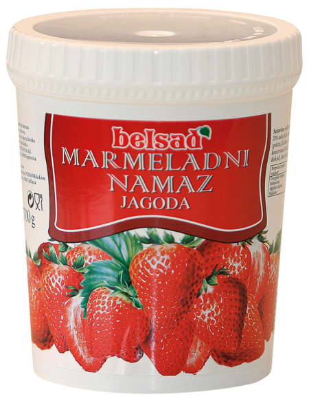 Strawberry marmalade spread