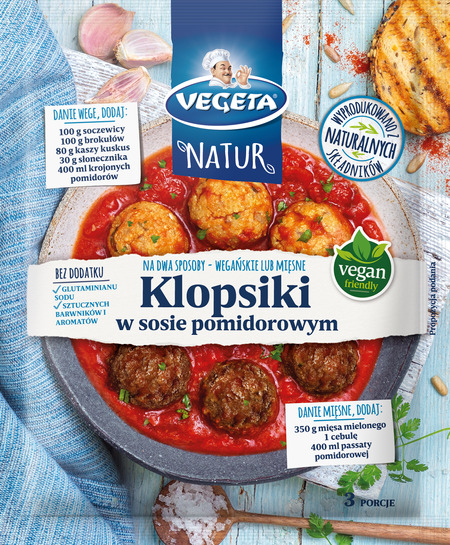 Fix Vegeta Natur Klopsiki w sosie pomidorowym
