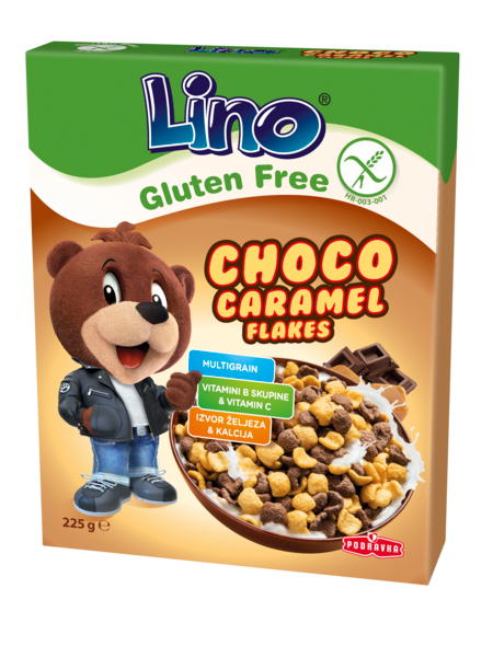 Lino Choco caramel flakes bez glutena