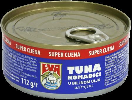 Tuna chunks in vegetable oil