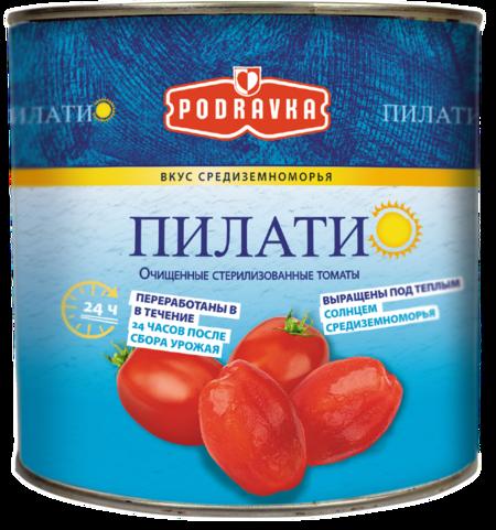 ПИЛАТИ. Очищенные стерилизованные томаты