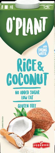 Riža i kokos biljni napitak