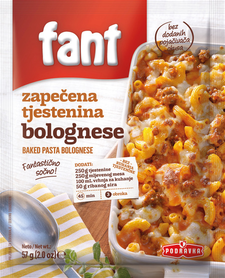 Fant baked pasta bolognese