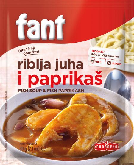 Fant fish soup and fish paprikash