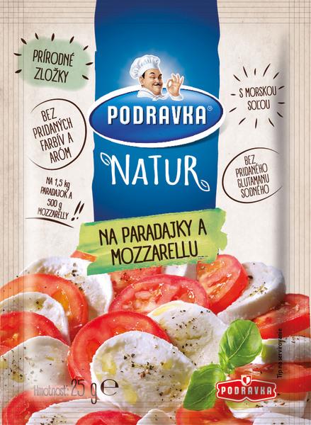 Podravka Natur na rajčata a mozzarelu