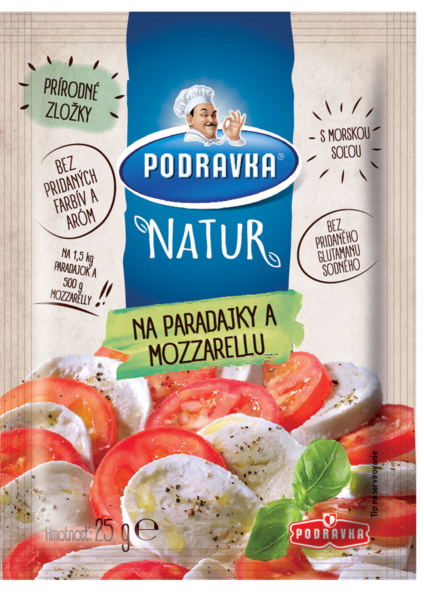Podravka NATUR na paradajky a mozzarellu