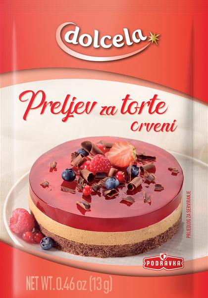 Crveni preljev za torte