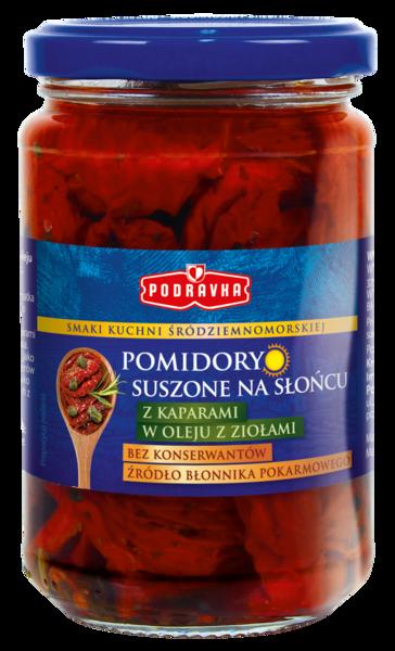 Pomidory suszone z kaparami w oleju z ziołami Podravka
