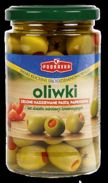 Oliwki zielone nadziewane pastą paprykową Podravka