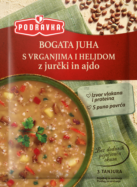 Bogata juha s vrganjima i heljdom