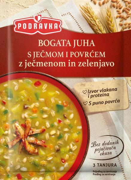 Bogata juha s ječmom i povrćem