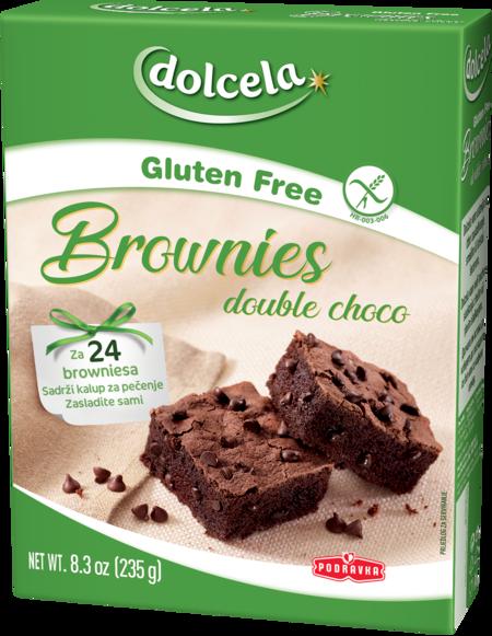 Brownies double choco bez glutena