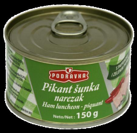 Ham luncheon meat piquant