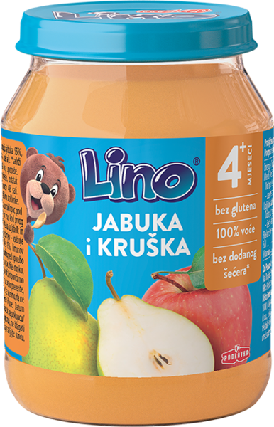 Lino puree apple and pear