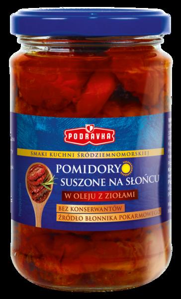 Pomidory suszone w oleju z ziołami Podravka