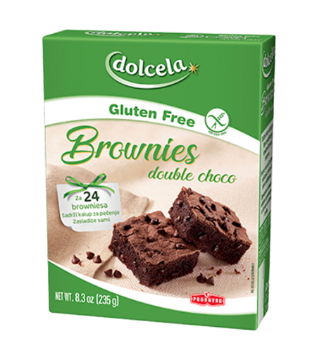 Brownies double choco brez glutena