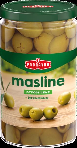 Green olives without kernels