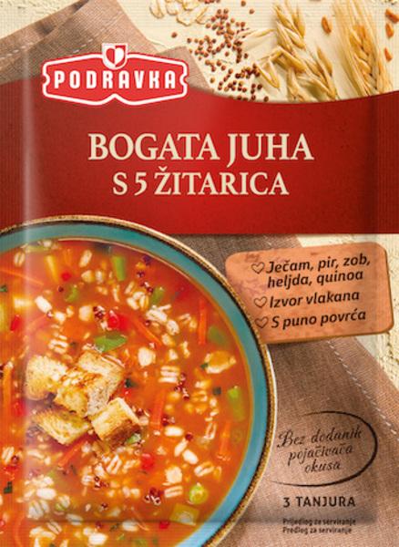 Bogata juha s 5 žiti
