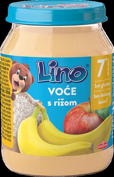 Lino puree fruit and rice