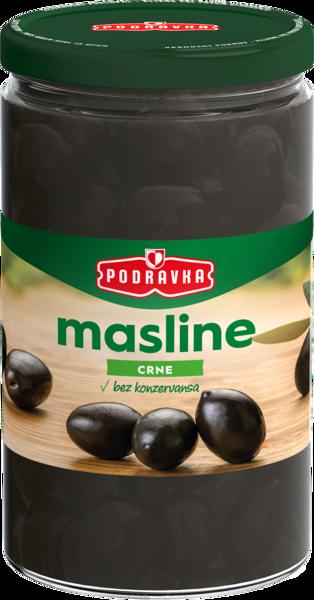Crne odgorčene masline