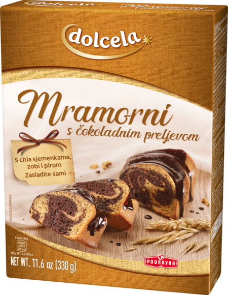 Marmorni kolač s čokoladnim prelivom