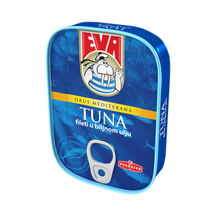 Tuna filets in vegetable oil