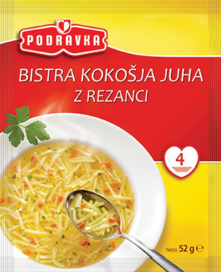 Bistra kokošja juha z rezanci