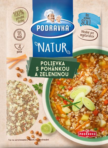 Podravka NATUR polievka s pohánkou a zeleninou