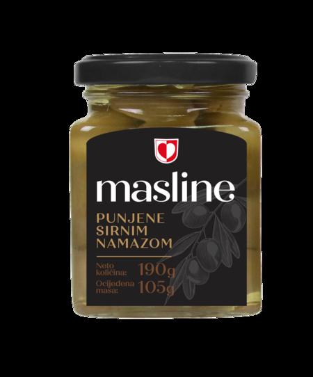 Masline punjene sirnim namazom