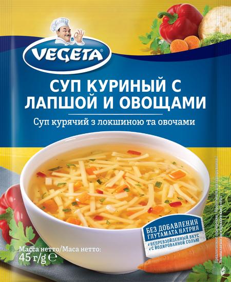 Суп куриный с лапшой и овощами