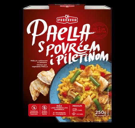 Paella s povrćem i piletinom