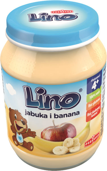 Lino kašica jabolko in banana