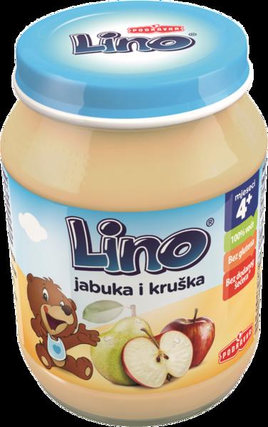 Lino kašica jabolko in hruška