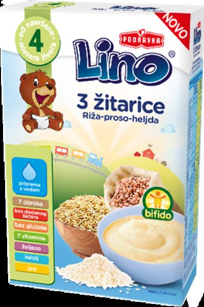 Lino 3 žita – riž, proso in ajda
