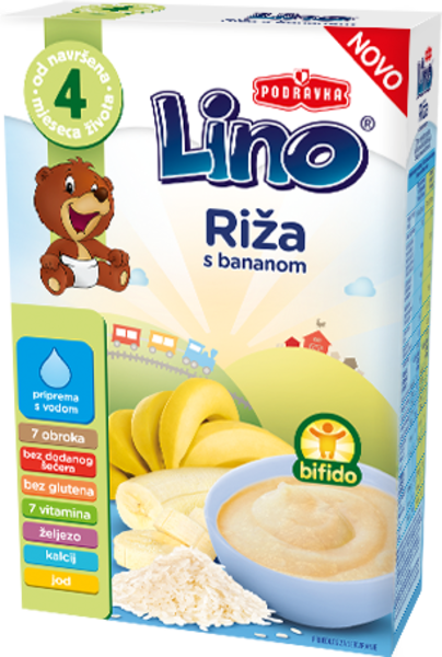 Lino riž in banana