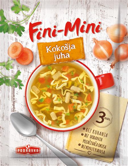 Fini-Mini kokošja juha