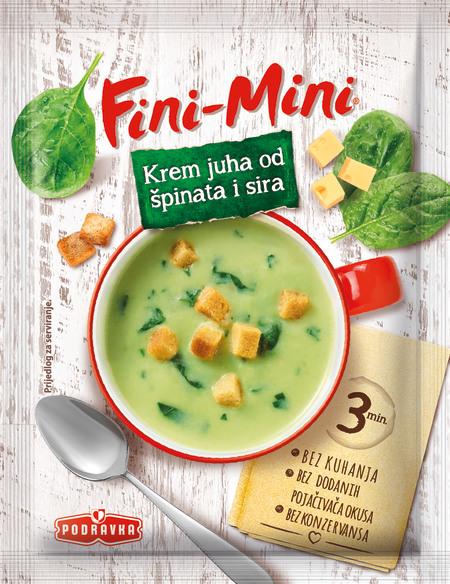 Fini-Mini krem juha od špinata i sira