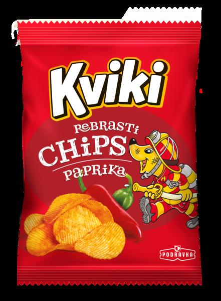Kviki čips paprika rebrasti