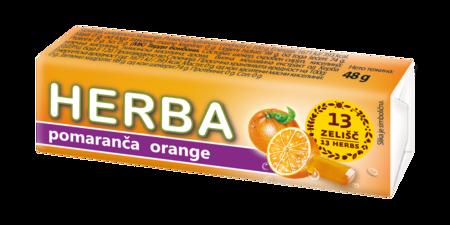 Herba tvrdi bomboni naranča