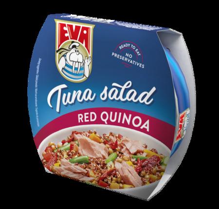 Tuniakový šalát s červenou quinoou