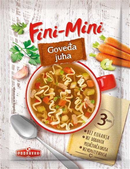 Fini-Mini goveja juha