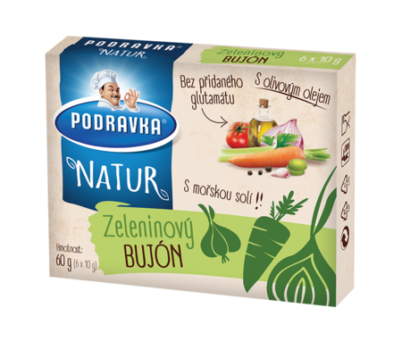 Natur zeleninový bujón kostky
